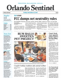Our own Eric Boughman makes FRONT PAGE of the Orlando Sentinel