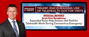 "Eric provides a Special Report for medical & health professionals, as he presents ""The First 30 Minutes:  Expanded Rules Helps Doctors Get Paid for Telehealth Work During Coronavirus Emergency"" via Live National Webinar."