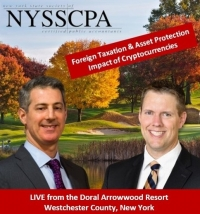 "Gary and Brian head to the New York State Society of CPAs Westchester & Rockland Chapters Tax Conference to present their seminar ""The Taxation of Bitcoin and other Cryptocurrencies"" at the Doral Arrowwood Resort in Westchester County, NY"