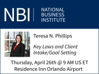 Teresa presents at NBI's Estate Planning and Administration seminar on Key Laws and Client Intake/Goal Setting