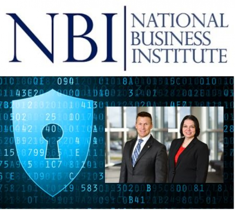 "Eric and Teresa present their seminar on ""Data Privacy and Information Security Law"" on the National Business Institute's National Teleconference"