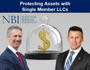 "Gary and Eric present for the National Business Institute and discuss the single-member LLC structure, with an emphasis on asset protection, in their seminar, ""Protecting Assets with Single-Member LLCs"" via Live Webinar"