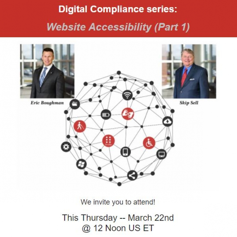 Our March webinar from the Digital Compliance series:  Website Accessibility (part 1)
