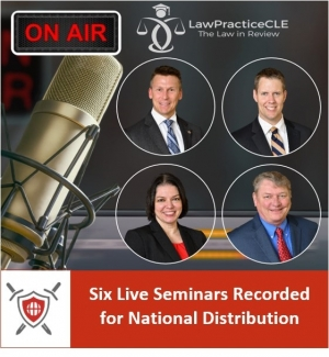Eric, Brian, Teresa, and Skip present six of their favorite seminars in cooperation with LawPracticeCLE in Live studio recording for national distribution