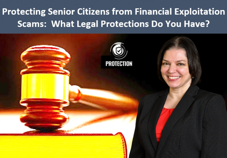 "Teresa continues our series on Protecting Senior Citizens from Financial Exploitation Scams with her latest seminar, ""What Legal Protections Do You Have?"" via Live National Webinar"