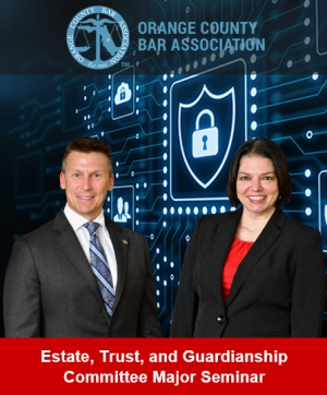 "Eric and Teresa present their Digital Compliance seminar ""Potential Perils Involving Smart Machines, connected Devices, Digital Theft, and Other Privacy Issues for Lawyers"" at the Orange County Bar Association in Orlando"