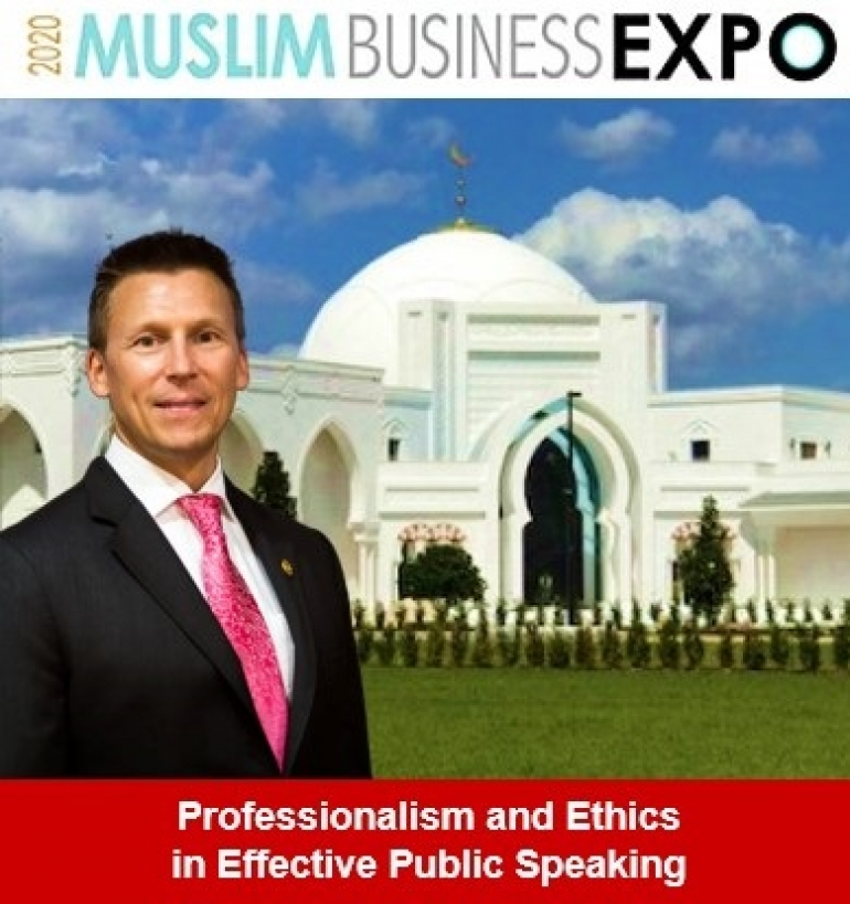 "Eric heads to Sanford to present on ""Professionalism and Ethics in Effective Public Speaking"" at the 2020 Muslim Business Expo"