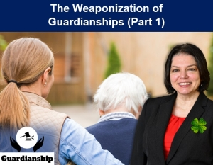 "Teresa presents on the weaponization of guardianships, reviewing real-life scenarios where guardianships went wrong and shedding light on how this can happen, in her seminar, ""The Weaponization of Guardianships (Part 1)"" via Live Webinar"