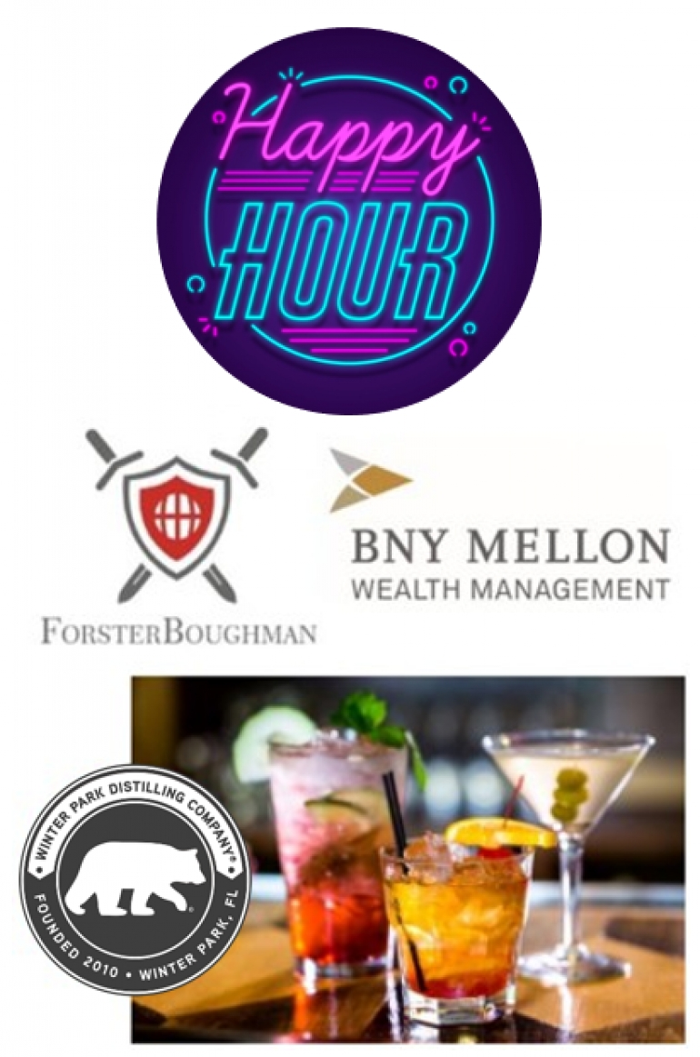 It's our Winter Celebration!  We invite you to join us for Happy Hour at Winter Park Distilling Company; Meet our Attorneys and the BNY Mellon Wealth Management team