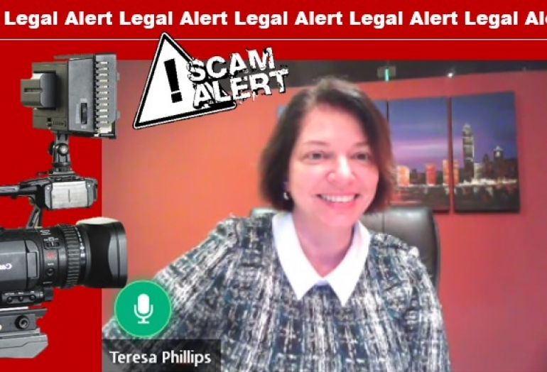 Teresa explains the latest financial scams affecting older Floridians via National Video Broadcast