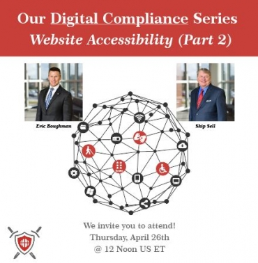 Our April webinar from the Digital Compliance series:  Website Accessibility (part 2)