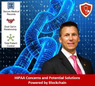Eric discusses HIPAA concerns and takes a practical look at a potential solution powered by blockchain technology with his guests, Mike Cameron and Dan Liptak, from OmegaPoint Partners
