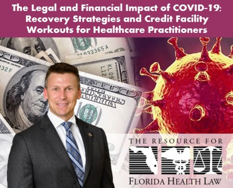 "Eric discusses negotiating financial obligations for licensed healthcare professionals and medical practices in his seminar ""Recovery Strategies and Credit Facility Workouts for Healthcare Practitioners"" for The Florida Bar Health Law Section"