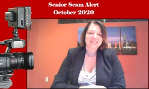 Teresa explains the latest in financial scams affecting older Floridians via National Video Broadcast