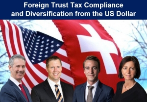 "Gary and Brian present with Swiss-based Registered Investment Advisors, Nick Frick and Sabina Weber Sauser from UBP Investment Advisors, their seminar, ""Foreign Trust Tax Compliance and Diversification from the U.S. Dollar"" via Live National Webinar"